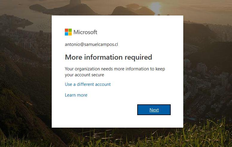 Deshabilitar registro de usuarios en Office 365 (Obligación de registrar correo y teléfono móvil)